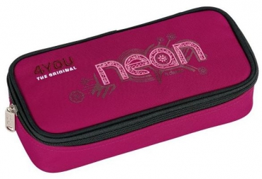 4YOU Pen Case + Geodreieck neon