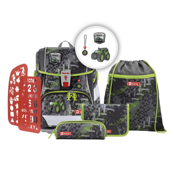 Step by Step 2in1 Plus Schulrucksack-Set 6tlg. Green Tractor