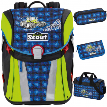 Scout Sunny Schulranzen Set Power Tractor 4tlg.