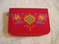 b529120528668 ... Pencil Case Indianer ungefüllt. Schulmäppchen 4YOU rot mit Blumen