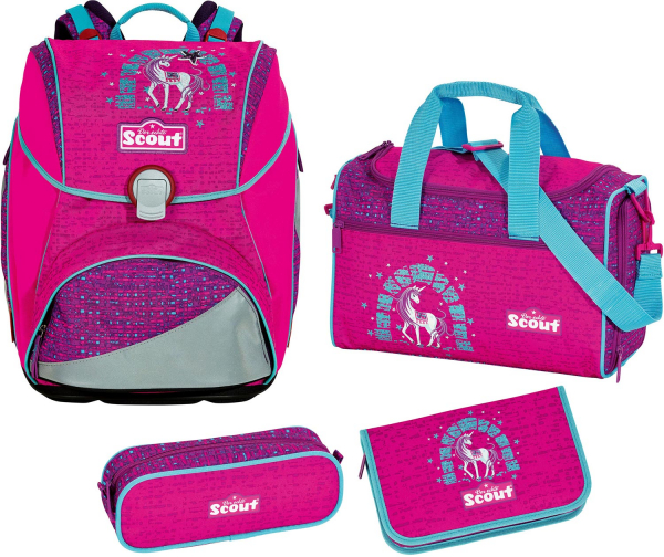 Scout Basic Schulranzen-Set 4-tlg Alpha Lilac Unicorn